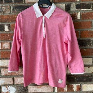 Pink Aquascutum London Woman's Shirt Size Large👚